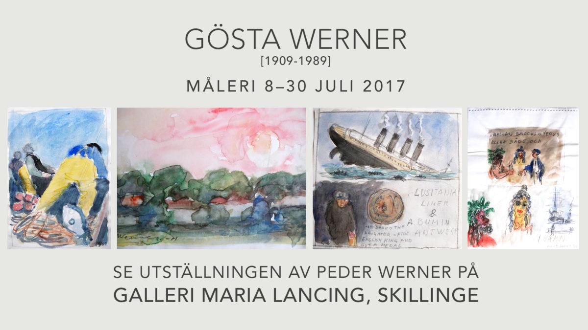 Gösta Werner utställning hos Galleri Maria Lancing på Skillinge